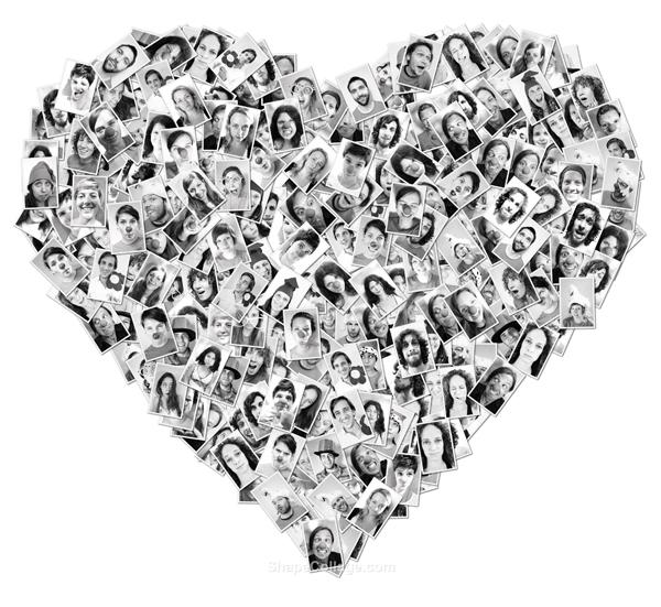 Shape collage yourmedia blog - Fotowand herz ...