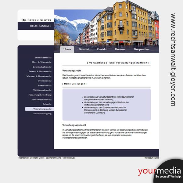 Webdesign homepage html css österreich