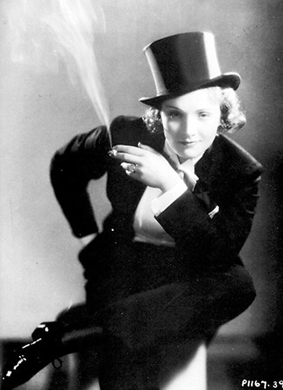 """Marlene Dietrich in """"Morocco"""" (1928) by Edward Steichen"""