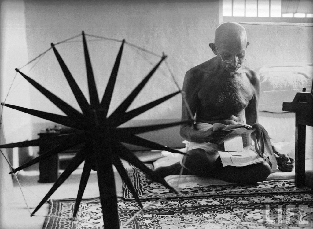Gandhi at his Spinning Wheel (1946) by Margaret Bourke-White
