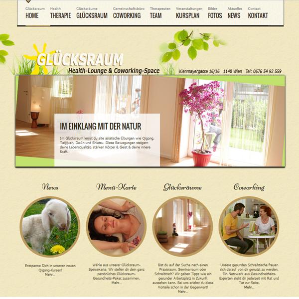 Webseite Glücksraum