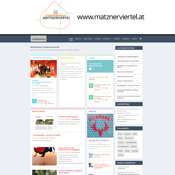 matznerviertel webdesign wordpress